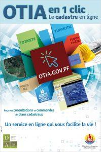 Affiche sur OTIA le cadastre en ligne (français)