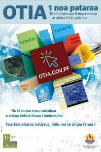 Affiche sur OTIA le cadastre en ligne (tahitien)