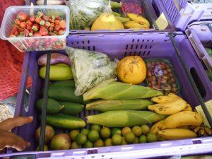 Cagette assortiment de fruit et légumes