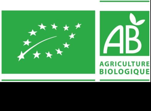 """Logo de la certification """"produit issus de l'agriculture biologique"""" de l'union européenne et le France métropolitaine."""