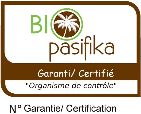 Logo de garanti Bio pasifika.