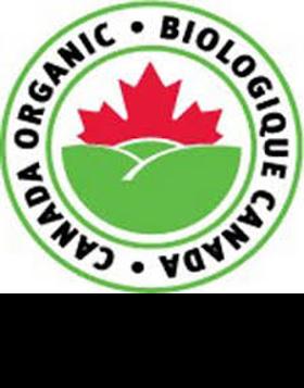 """Logo de la certification """"produit issus de l'agriculture biologique"""" du Canada."""