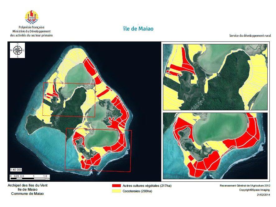 Image satellite de Mai'ao. RGA 2012, Direction de l'agriculture.