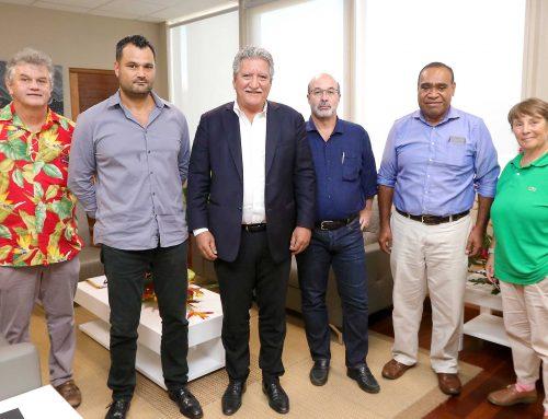 Entretien avec une délégation de l'OPT de Nouvelle-Calédonie