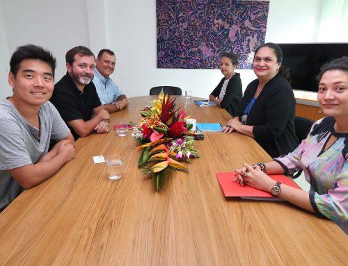 Nicole Bouteau rencontre une délégation du Digital Festival Tahiti