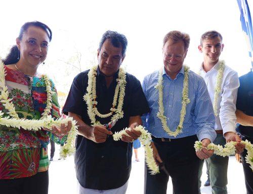 Inauguration de la station d'atterrage du câble « Natitua »