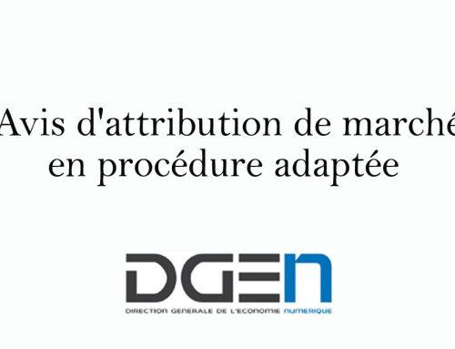 DGEN – Avis d'attribution de marché en procédure adaptée