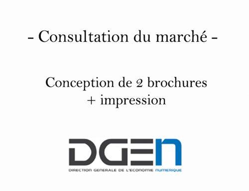 Consultation du marché : conception de 2 brochures + impression
