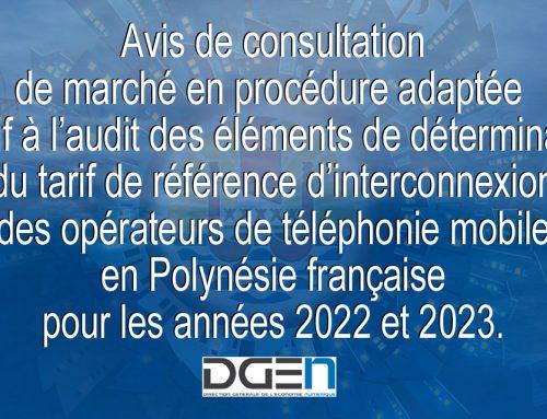 Avis de consultation de marché en procédure adaptée
