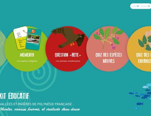 """Kit éducatif """"Biodiversité terrestre de Polynésie française"""""""