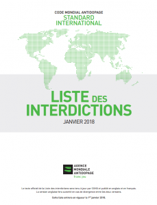 Liste des interdictions