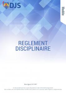 Réglement disciplinaire