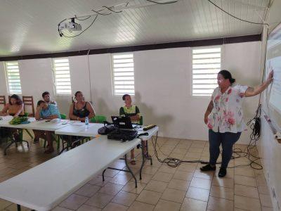 Photo des participants lors de l'intervention d'une formatrice