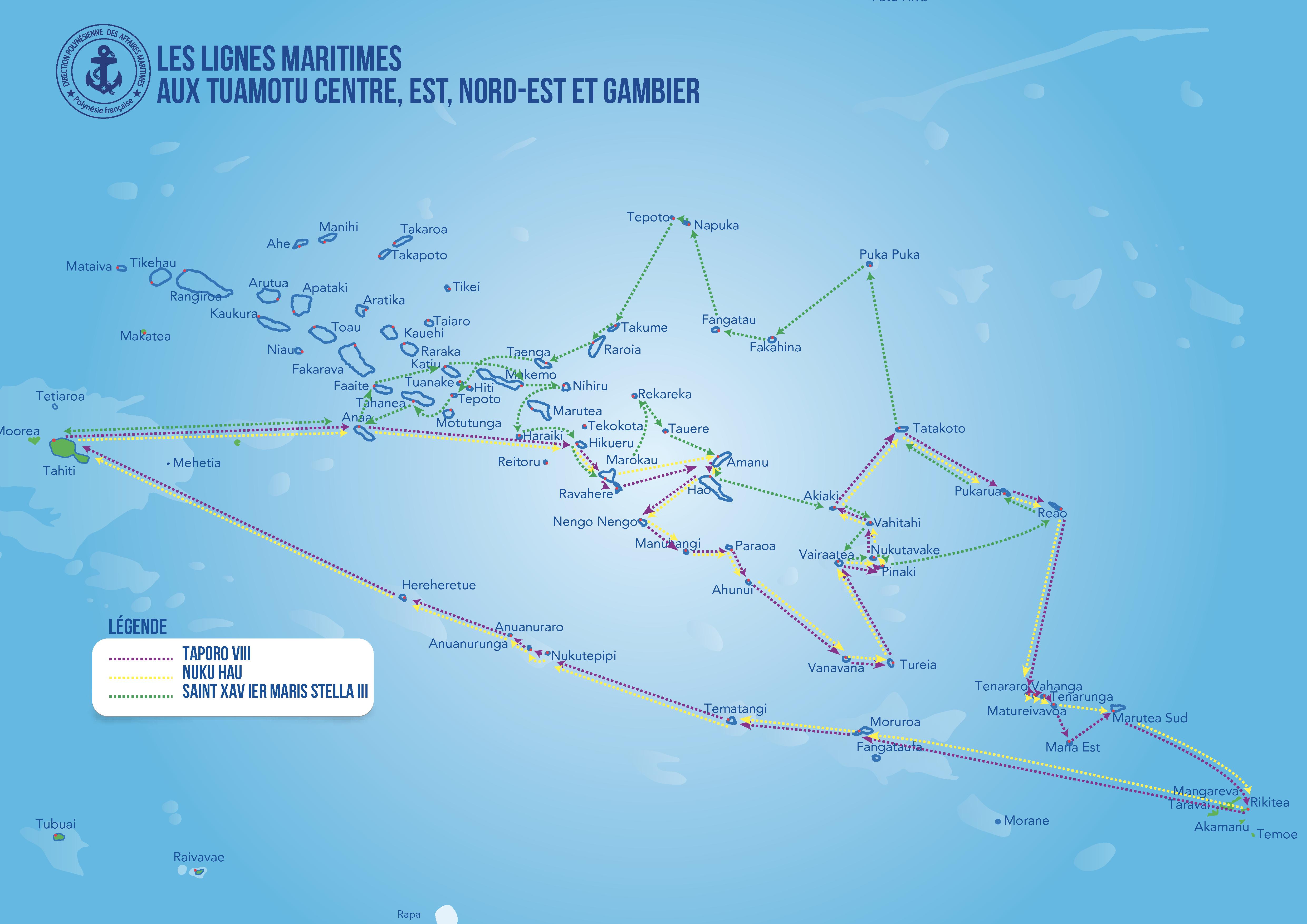Carte Tuamotu Centre Est Nord Est Gambier Atlas 2018 Direction Affaires Maritimes Polynesie Tahiti