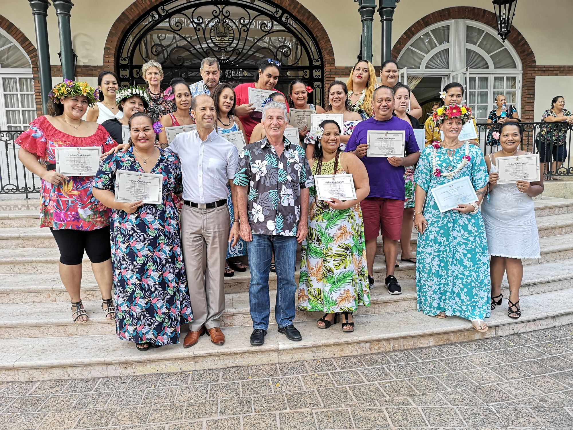 Cérémonie de remise des diplômes d'état d'infirmiers et d'aide-soignant territorial