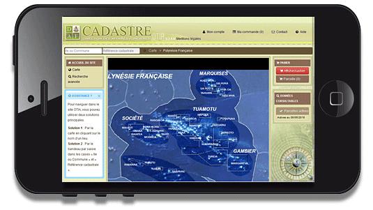 Accès à OTIA, l'application cadastre en Polynésie française