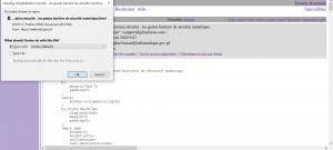 Visuel ouvrir un mail de webmail dans son navigateur