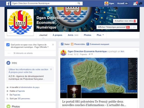 Compte Facebook de la DGEN