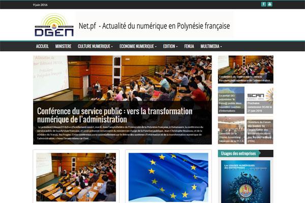 Site www.dgen.pf : Actualité du numérique en Polynésie français