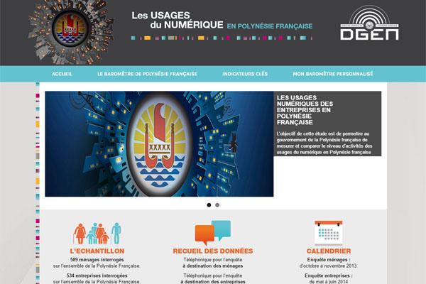 Site www.oden.pf : Les usages du numérique en Polynésie française