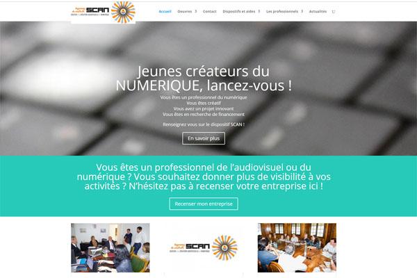 Site www.scan.pf : Soutien à la création audiovisuelle et numérique