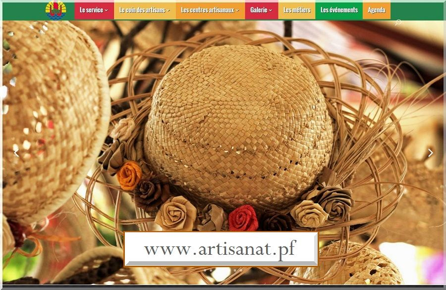 Site internet du service de l'artisanat traditionnel