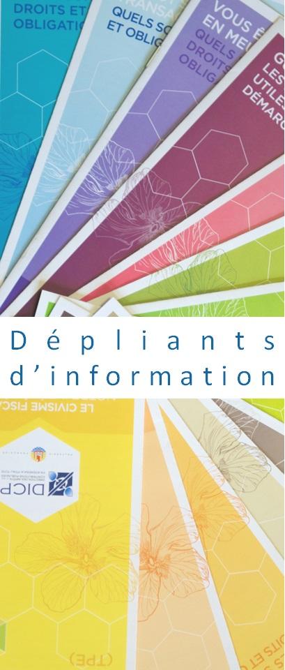 Dépliants d'information