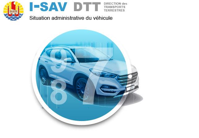 Image I-SAV le téléservice de la DTT, direction des transports terrestres