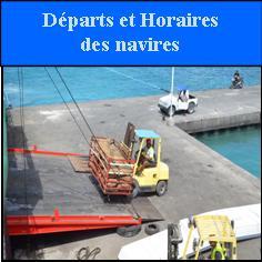 départs et horaires des navires