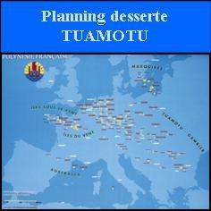 Planning desserte tuamotu