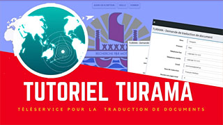 Tutoriel vidéo du téléservice TURAMA (3:05)