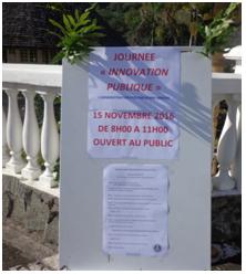 Journée de l'innovation Panneau d'orientation pour le public