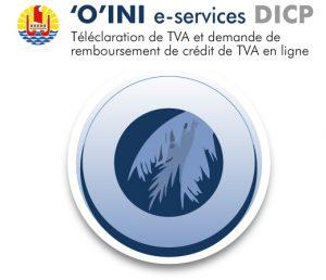 Image Téléservice DICP : 'O'INI e-service Télédéclaration de TVA et demande de remboursement de crédit de TVA en ligne