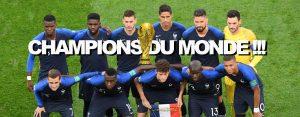 FRANCE CHAMPIONNE DU MONDE DE FOOT 2018