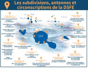 Carte des antennes de la DSFE